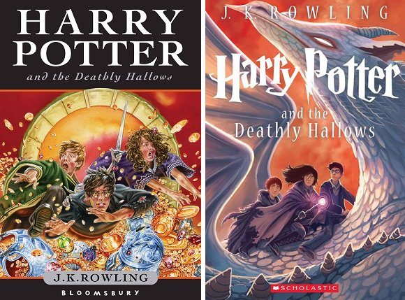 Both the covers described above left-to-right: Tha main trio dive through a pile of treasure; the main trio sit on the back of a pale dragon