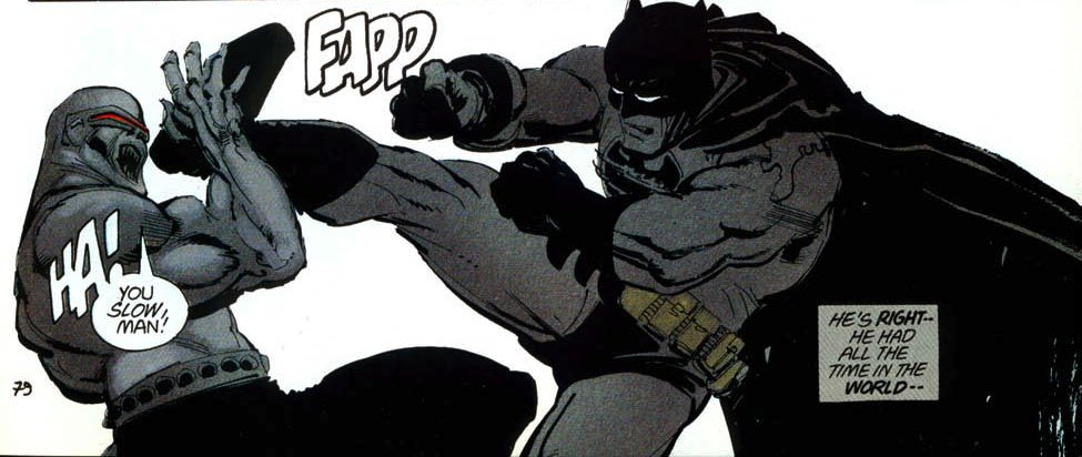 Mutant leader fights Batman
