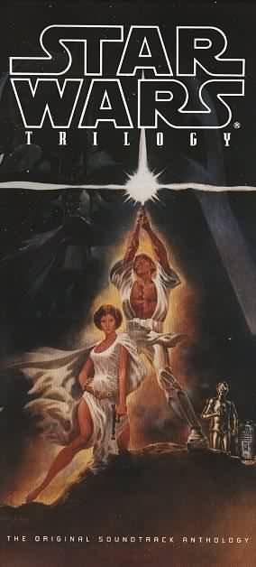 """The cover to the """"Star Wars Trilogy: The Original Soundtrack Anthology"""" box set."""